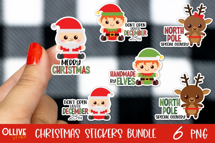 Christmas Sticker Bundle PNG | Christmas Sticker PNG example image 1