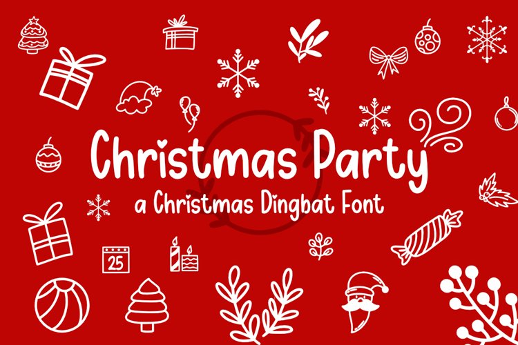 Christmas Party - Dingbat Font example image 1