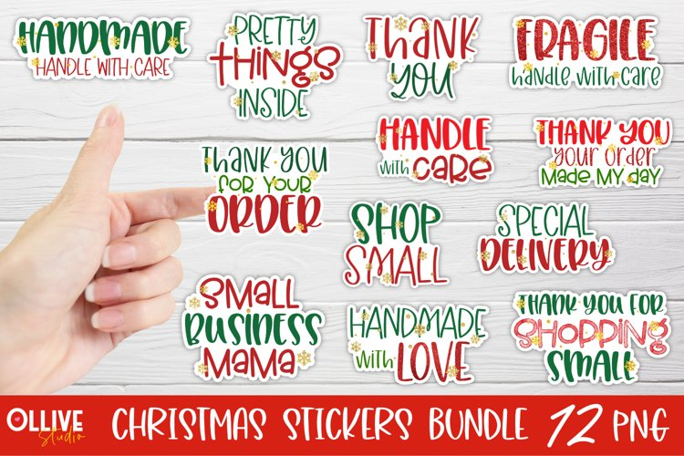 Small Business Christmas Sticker Bundle | Christmas PNG