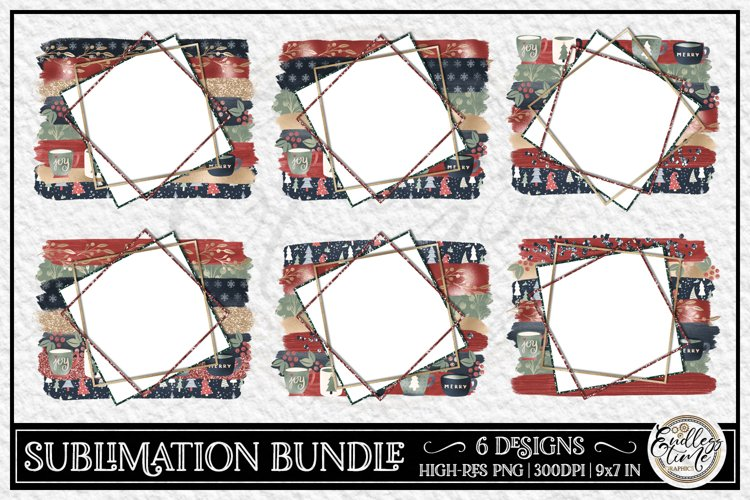 Christmas Sublimation Bundle | 6 Sublimation Backgrounds