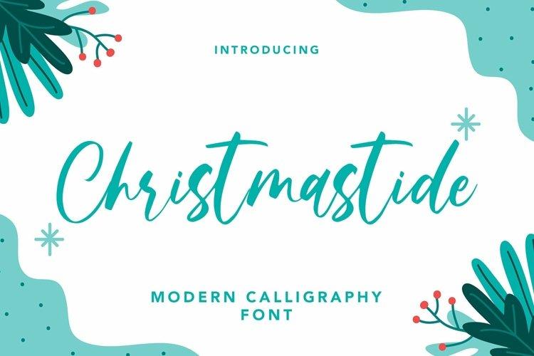 Web Font Christmastide - Modern Calligraphy Font example image 1
