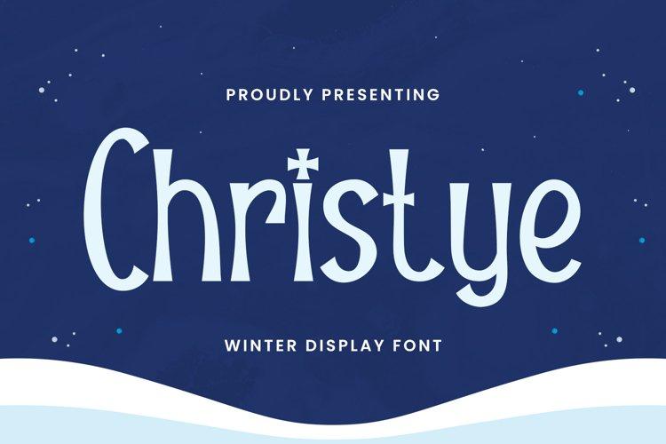 Christye Font example image 1