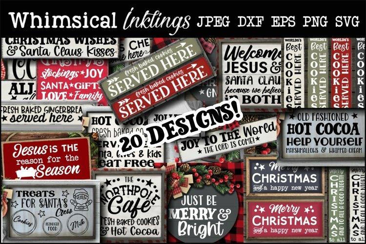 Christmas Hodge Podge SVG Bundle-20 Designs!