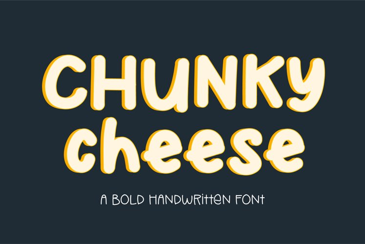 Chunky Cheese - a playful bold handwritten font example image 1