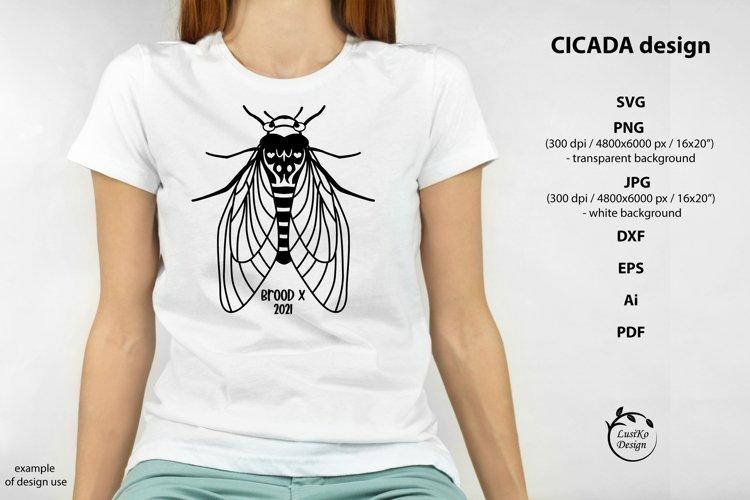 Cicada SVG, PNG, EPS design. Periodical Cicada Brood X