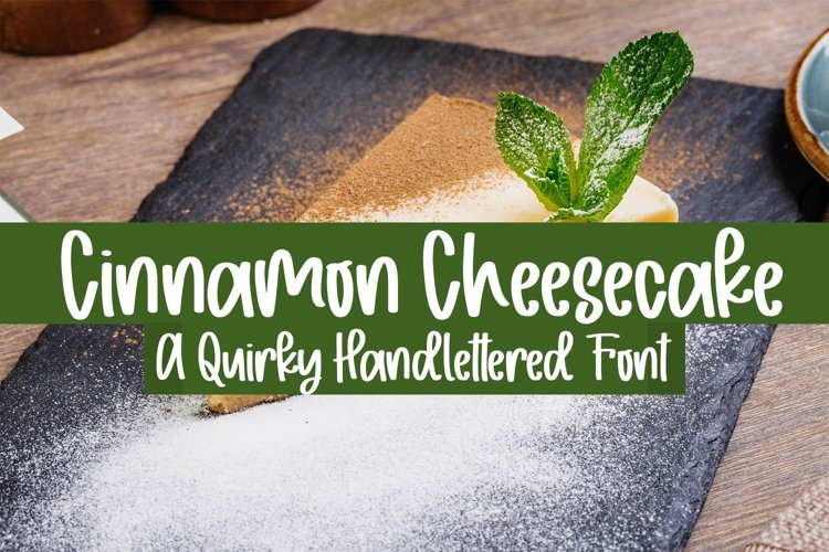 Web Font Cinnamon Cheesecake - A Quirky Handlettered Font