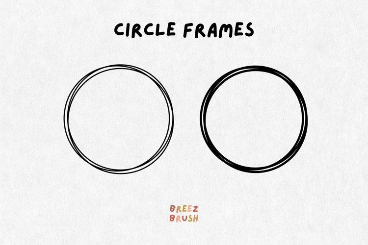 3 Circle frames svg, simple circle svg, sketch circle svg
