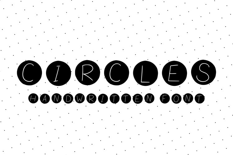 cute handwritten font with letters in circles