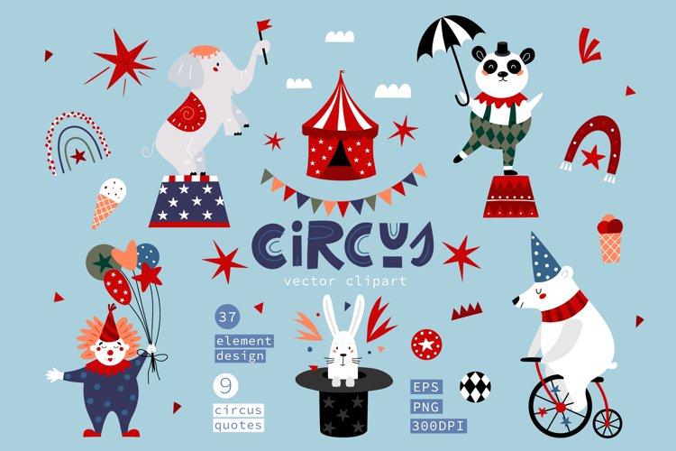 Circus Clipart, Nursery Decor