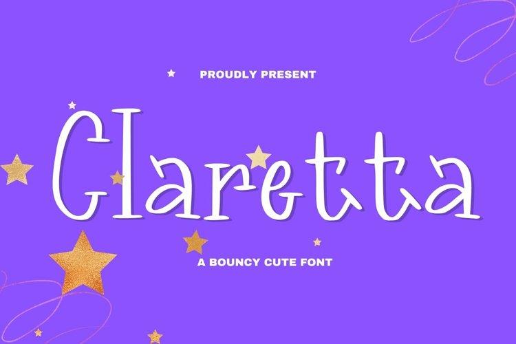 Web Font Claretta Font example image 1