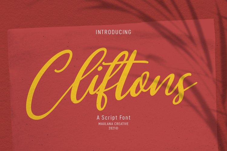 Clifttons Casual Signature Font