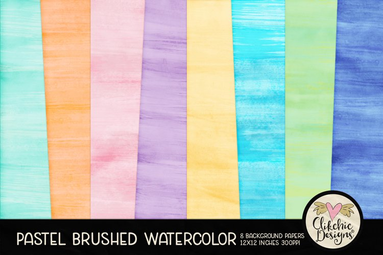 Watercolor Scrapbook Papers Pastel Watercolor Backgrounds example image 1