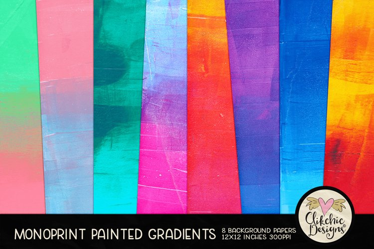 Painted Background Paper - Monoprint Gradient Grunge example image 1