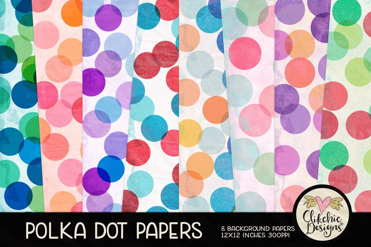 Polka Dot Papers Backgrounds - Printable Background Patterns