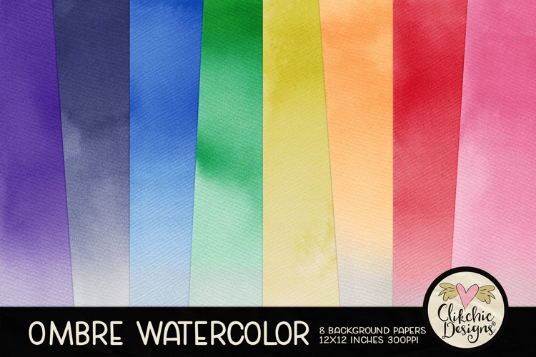 Watercolor Background Textures - Ombre Watercolor Papers