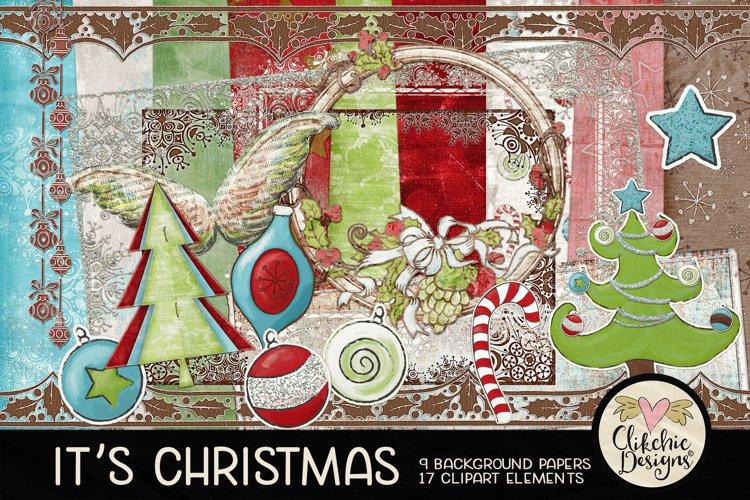 Christmas Digital Scrapbook Kit - Christmas Clipart example image 1