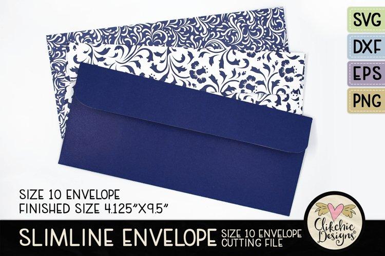 Slimline Envelope SVG - Size 10 Envelope Cutting File example image 1