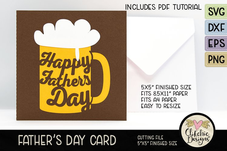 Happy Fathers Day Card SVG - Beer Fathers Day Card SVG