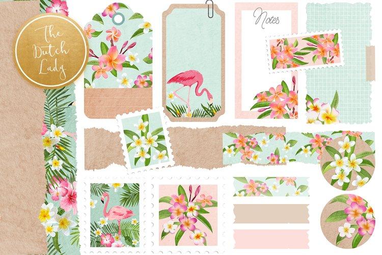 Scrapbook Items Clipart Set - Tropical Flowers