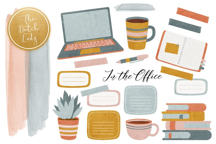 In the Office Lady Boss Clipart Set