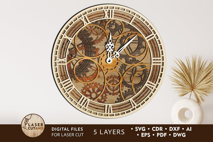 Clock Multilayer Laser Cut Files for Laser Cut Wood