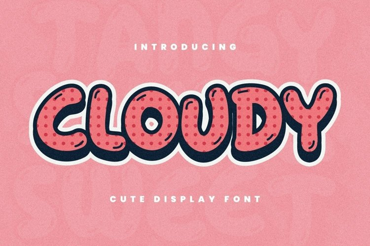 Web Font Cloudy Font example image 1