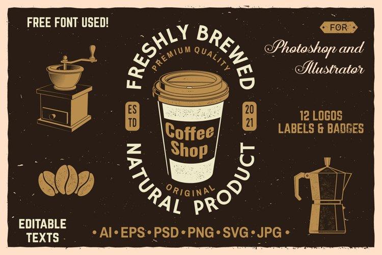 Coffee Shop Badges/Logos