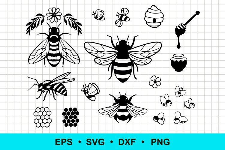 Bee and Honey Bundle Vector Clip Art