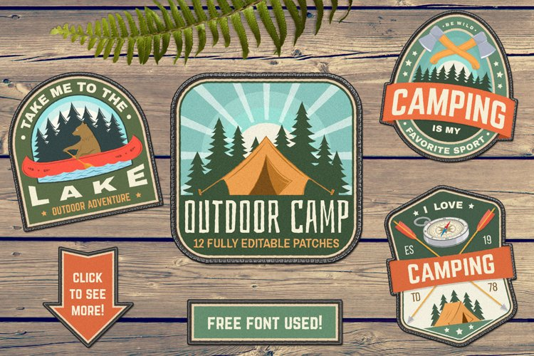 Outdoor Camp Patches