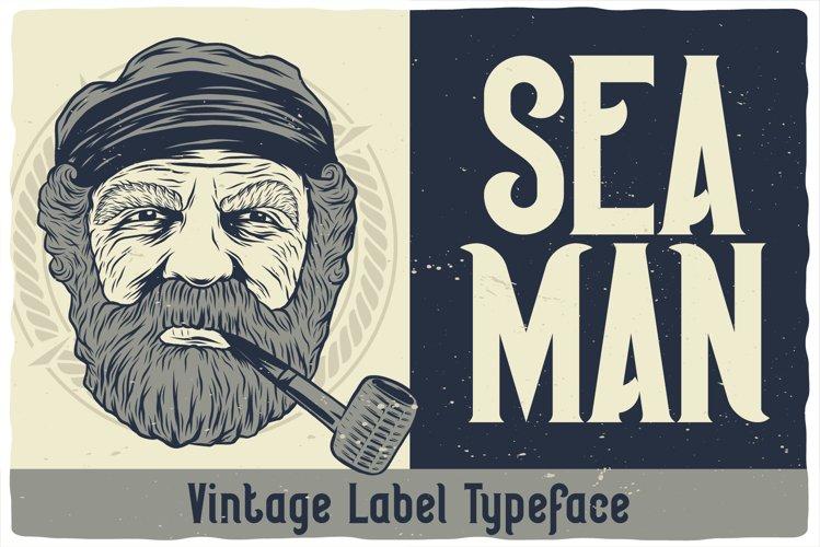Seaman Label Font example image 1