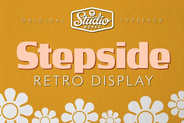 Stepside   Retro Display Font example image 1