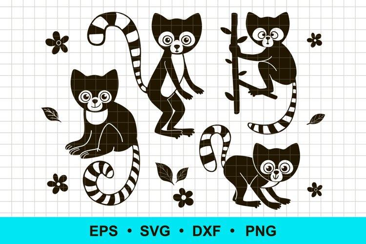 Lemur Vector Clip Art