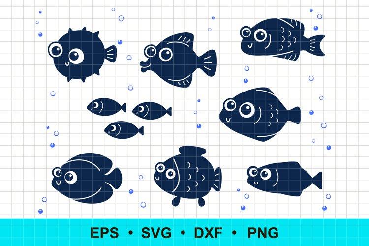 Funny Fish Clip Art Vector