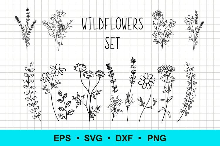 Wildflowers Vector Clip Art