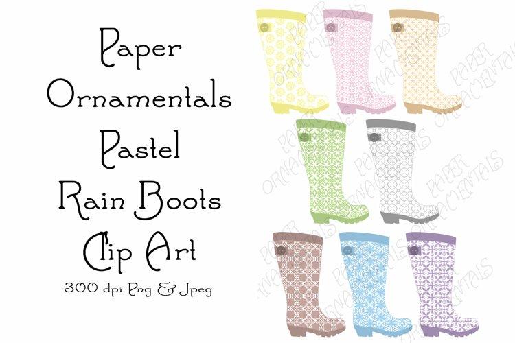 Clip Art, Rain Boot Clipart, Pastel Rain Boots Mini Bundle