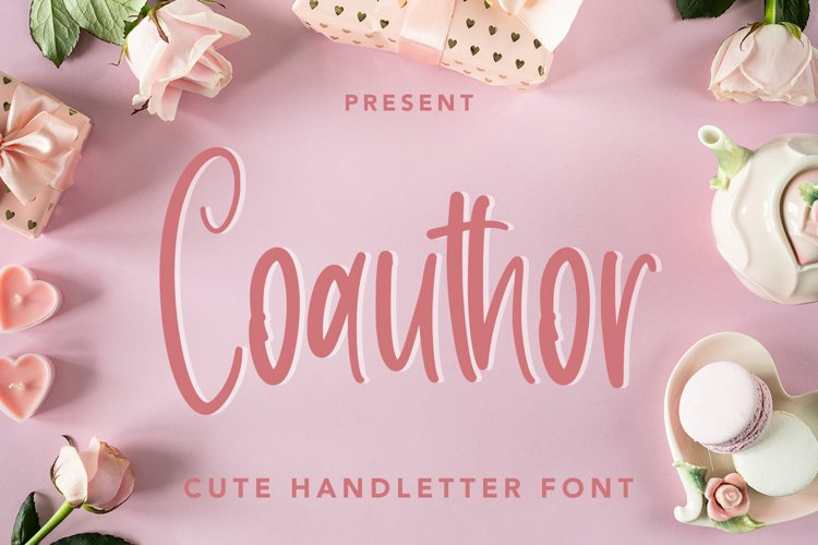 Coauthor - Cute Handletter Font example image 1