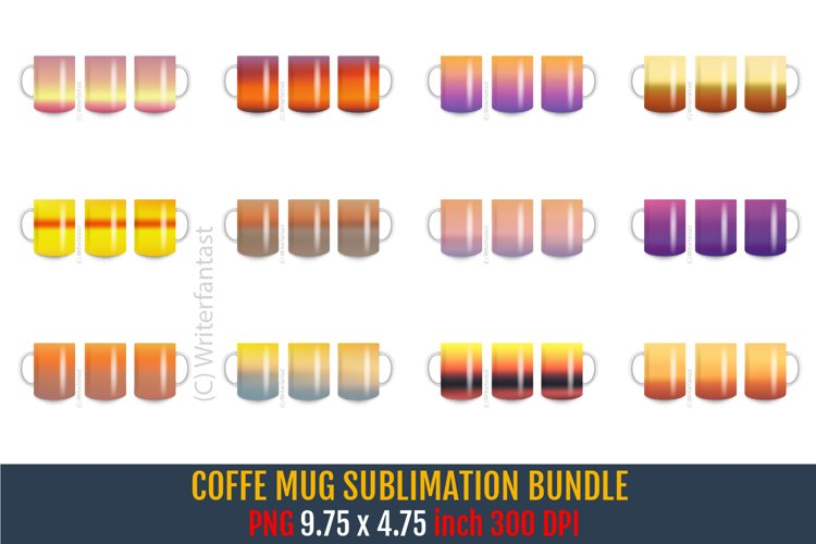 Sunset Coffee Mug Sublimation Bundle, Tea Cup, Sunset