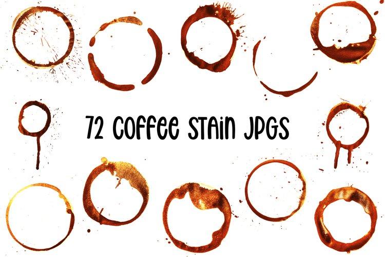 72 Brown Coffee Tea Cup Mug Stains On White Background JPG
