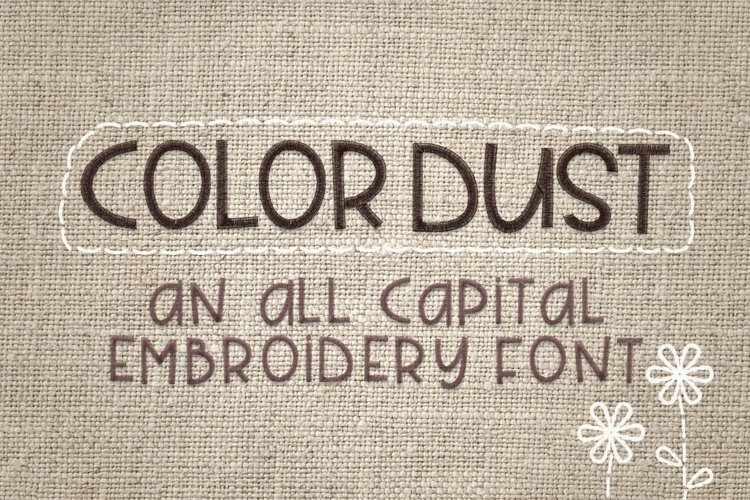 Color Dust - Embroidery Font example image 1