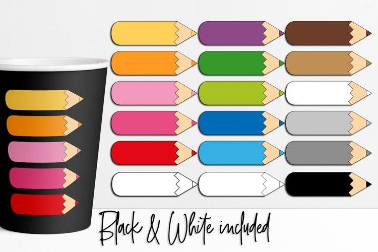 Color pencil clipart bundle for school teaching resources