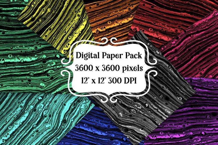 Dark Fluid Art Digital Paper Pack example image 1