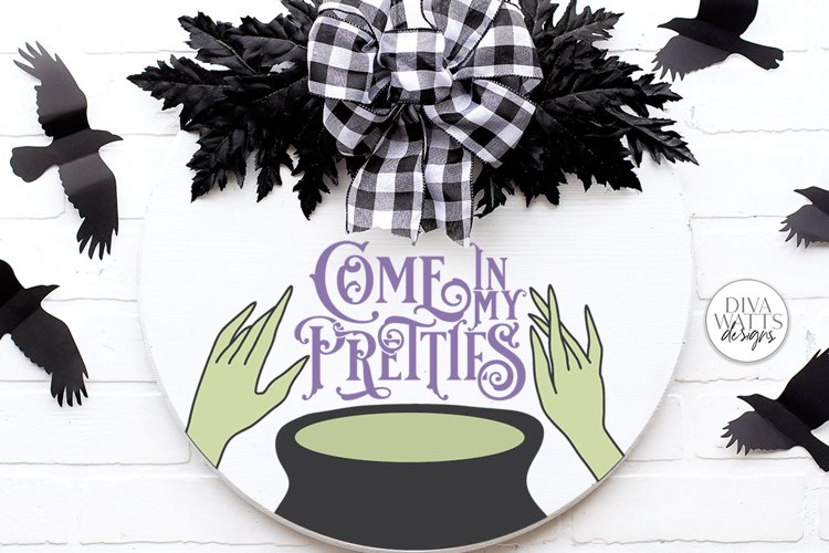 Come In My Pretties SVG   Halloween Witch's Cauldron Design example image 1