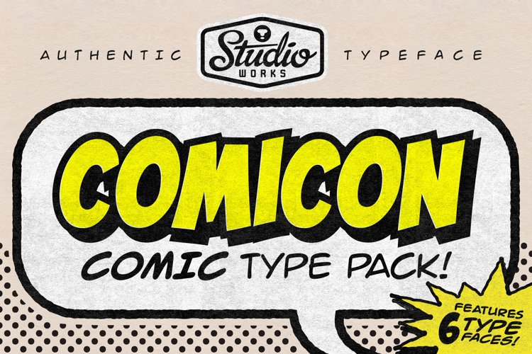 Comicon   Comic Type Pack! example image 1
