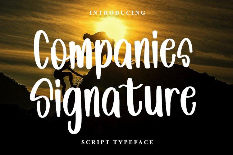 Companies Signature | New Script Font example image 1