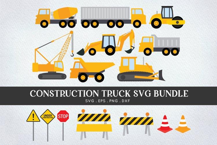 Construction Truck svg bundle - bulldozer digger svg png dxf