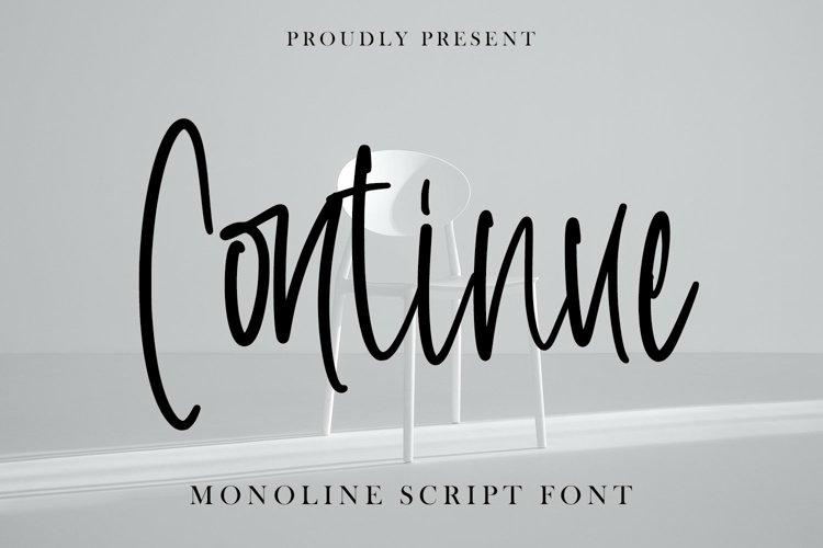 Web Font Continue - Monoline Script Font example image 1