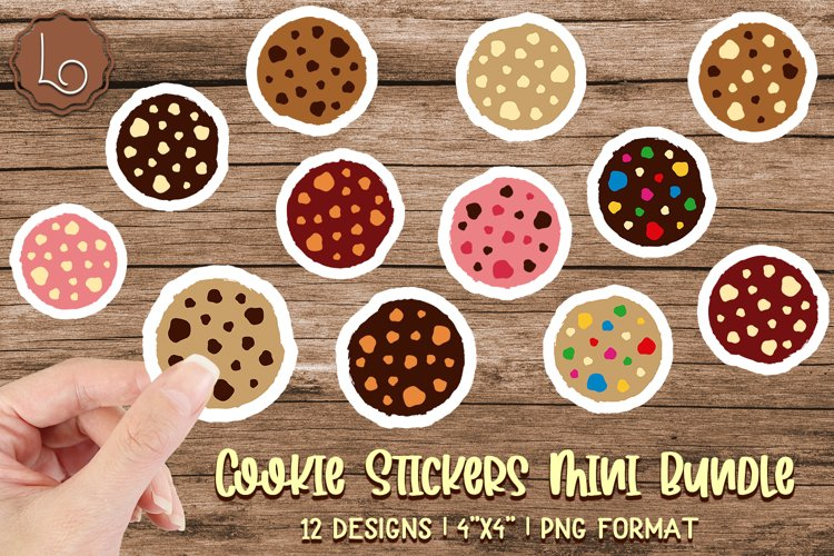 Cookie Stickers Mini Bundle - 12 Printable Stickers