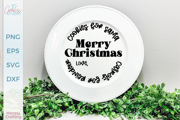 Cookies For Santa - Christmas Plate SVG
