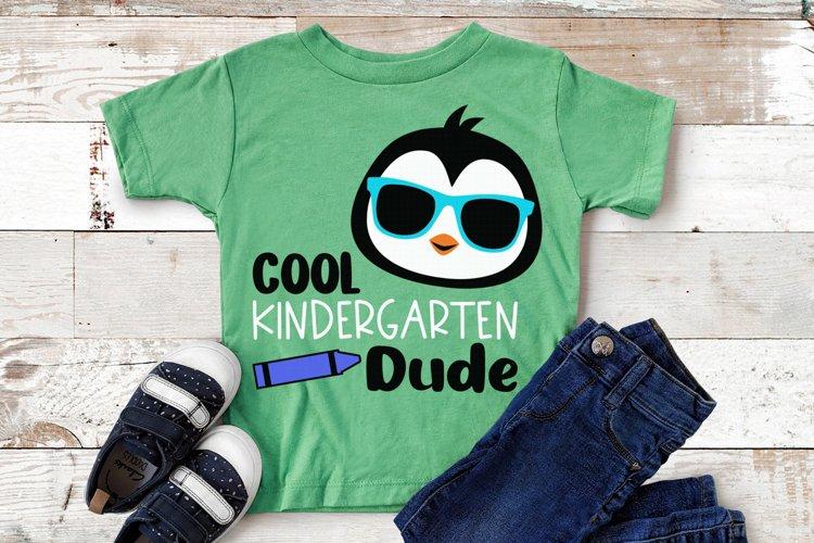 Back To School Svg, Kindergarten Dude Svg, Cool Penguin Svg