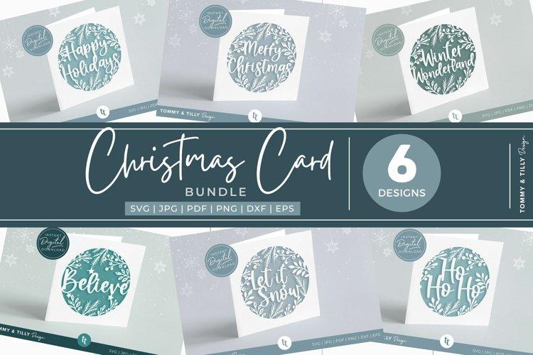 Christmas Card Bundle Vol.1 | 6 x SVG for Cricut